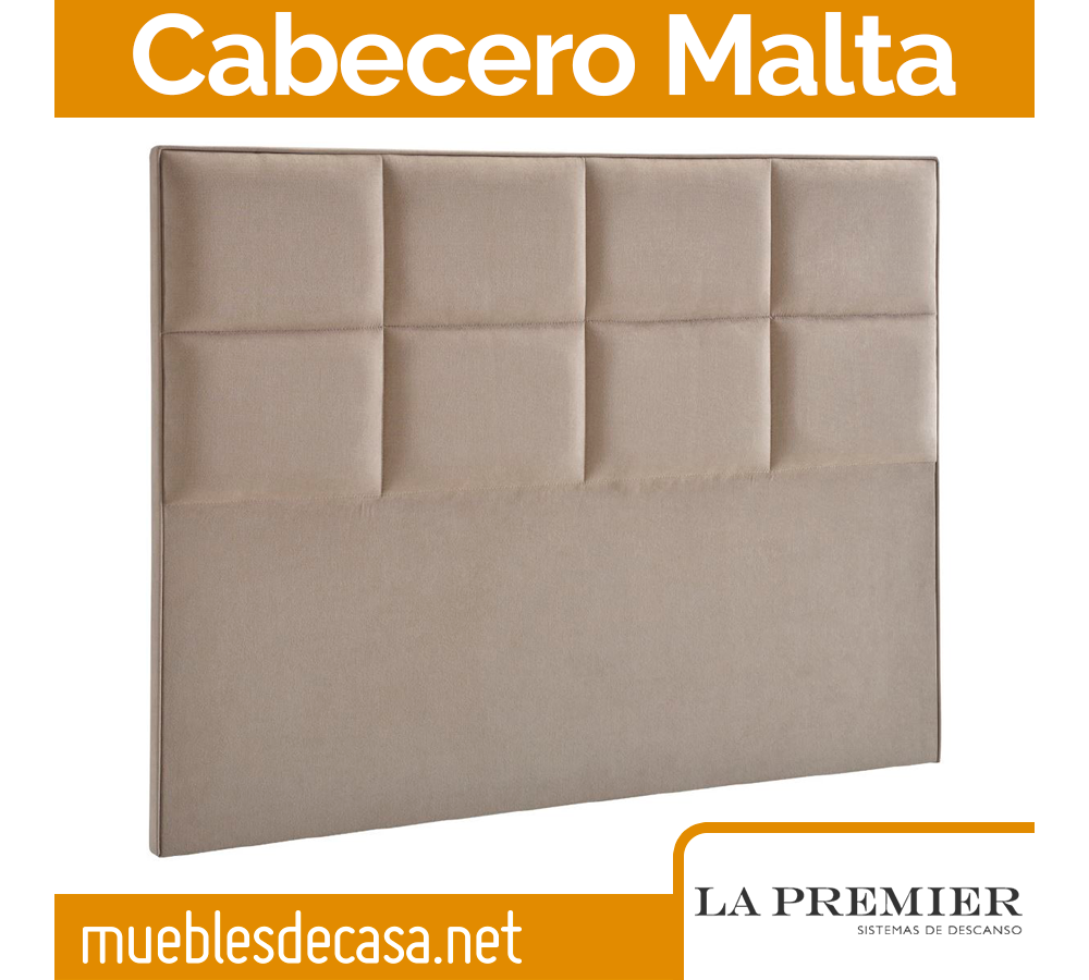 Cabecero Tapizado La Premier, Modelo Malta