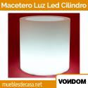 Macetero de Diseño para Exterior Vondom Cilindro Luz Led