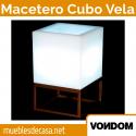 Macetero de Diseño para Exterior Vondom Cubo Vela 40x40x70