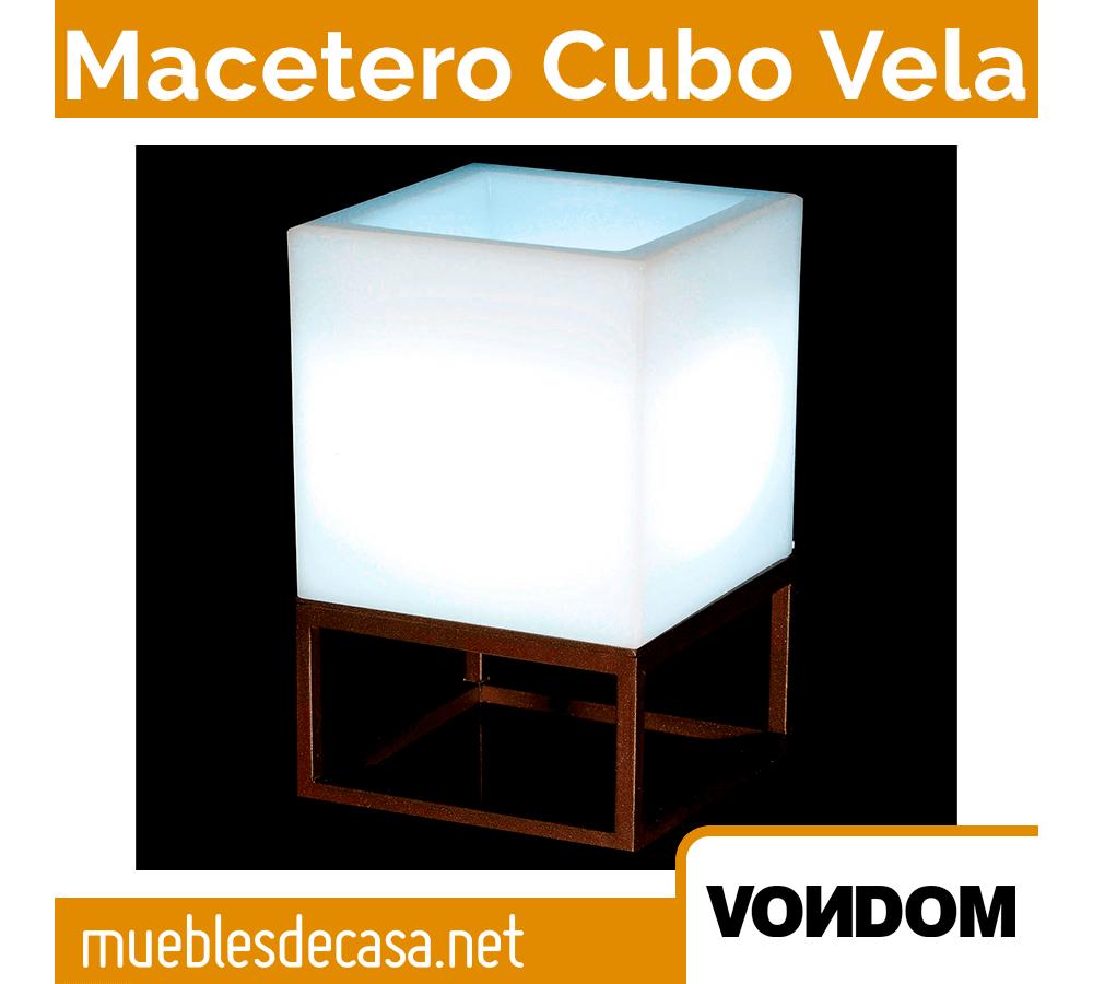 Macetero Cubo Vela Vondom