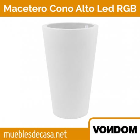 Macetero de Diseño para Exterior Vondom Cono Alto LED RGB