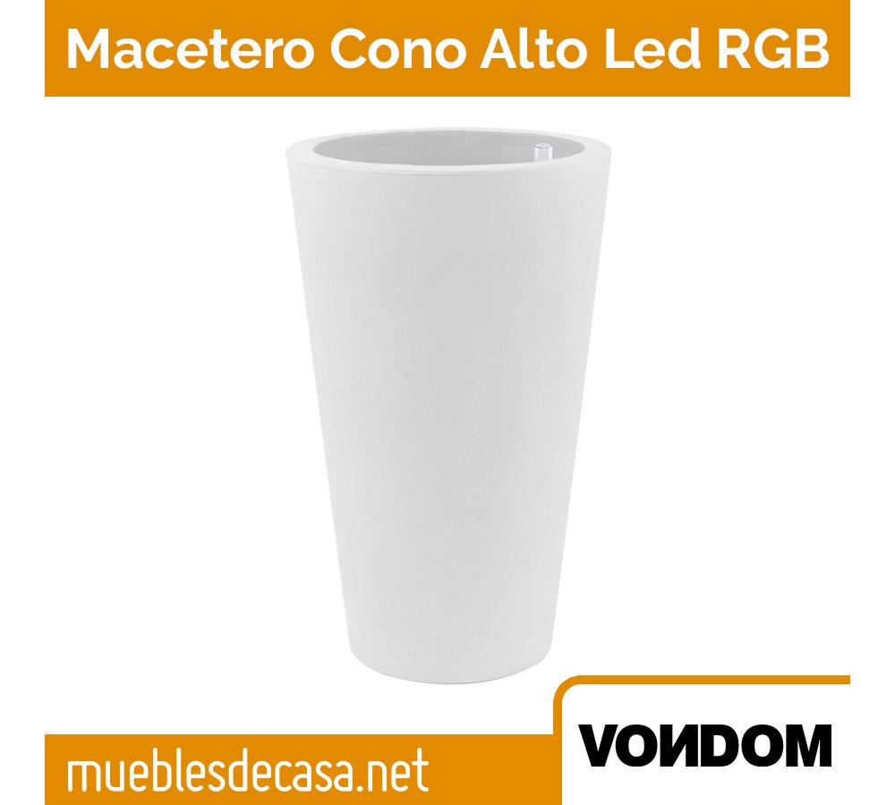 Macetero Vondom Cono Alto LED RGB