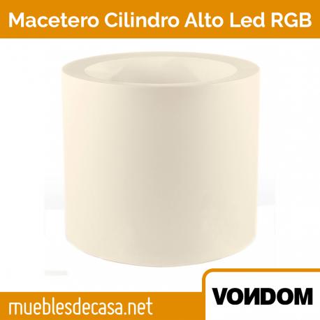 Macetero de Diseño para Exterior Vondom Cilindro Alto LED RGB