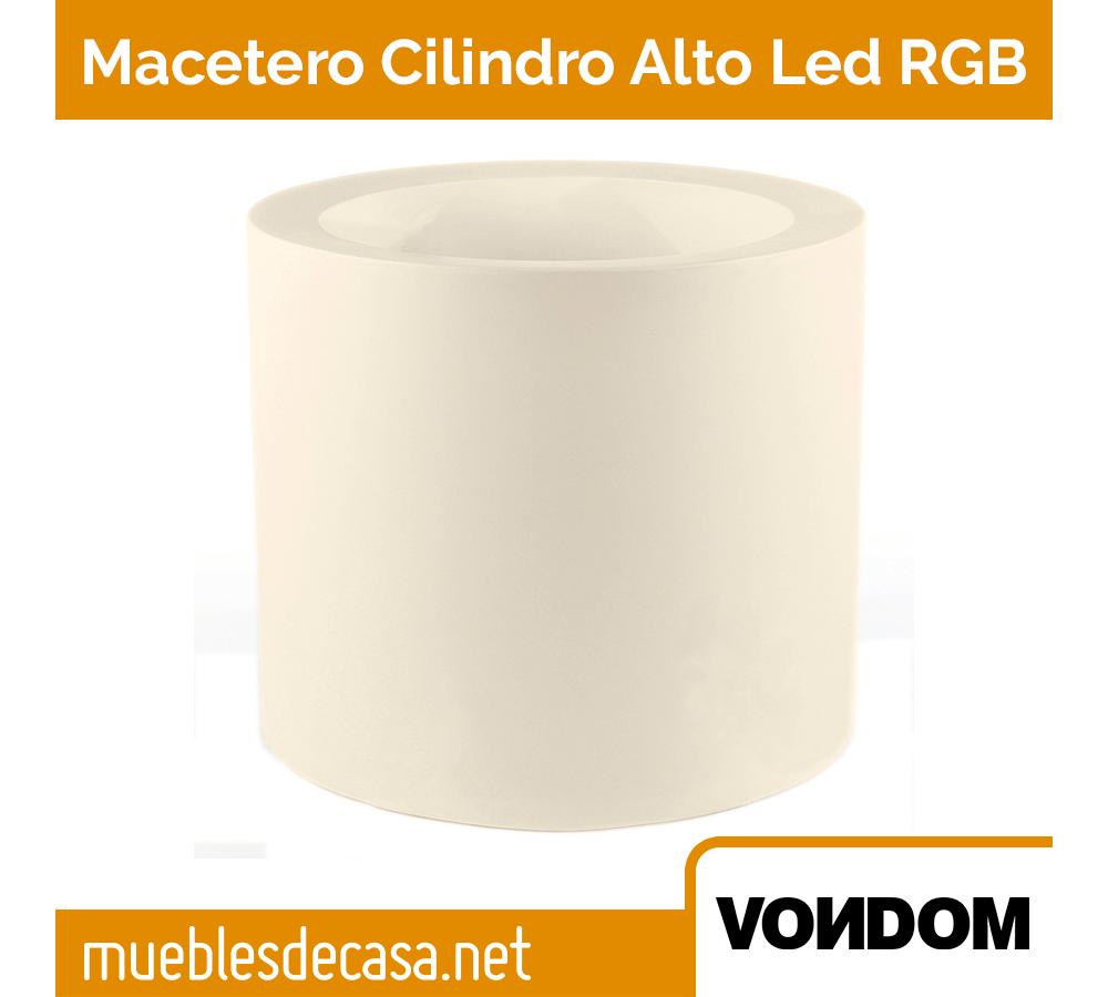 Macetero Vondom Cilindo Alto LED RGB