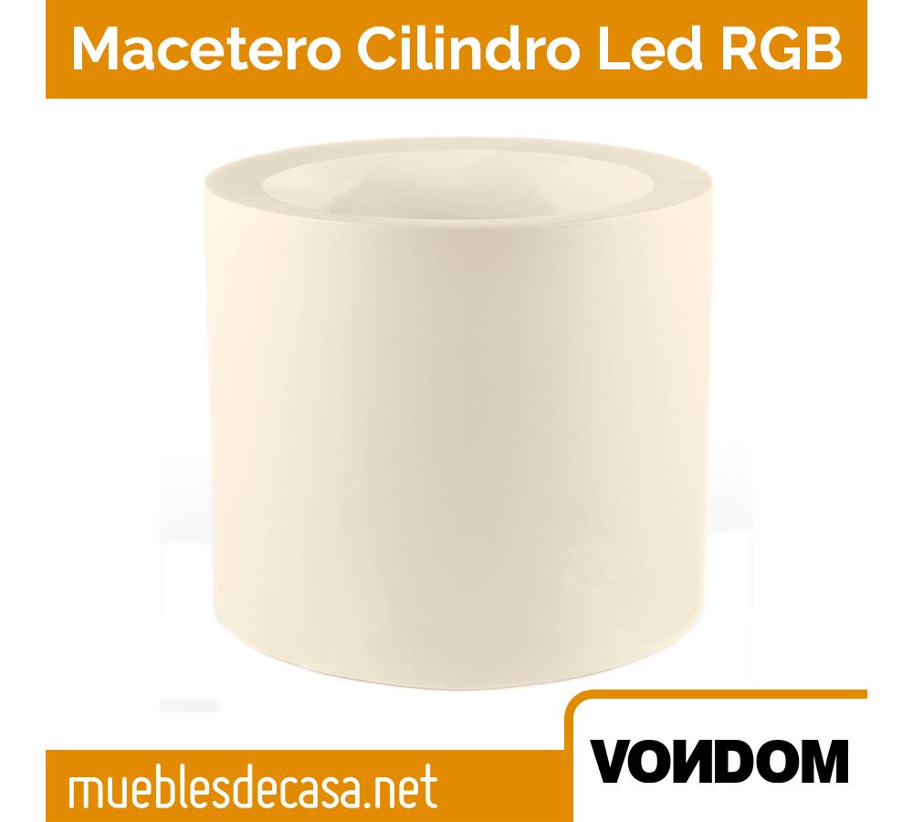 Macetero Vondom Cilindro LED RGB