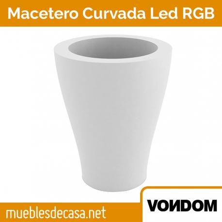 Macetero de Diseño para Exterior Vondom Curvada LED RGB