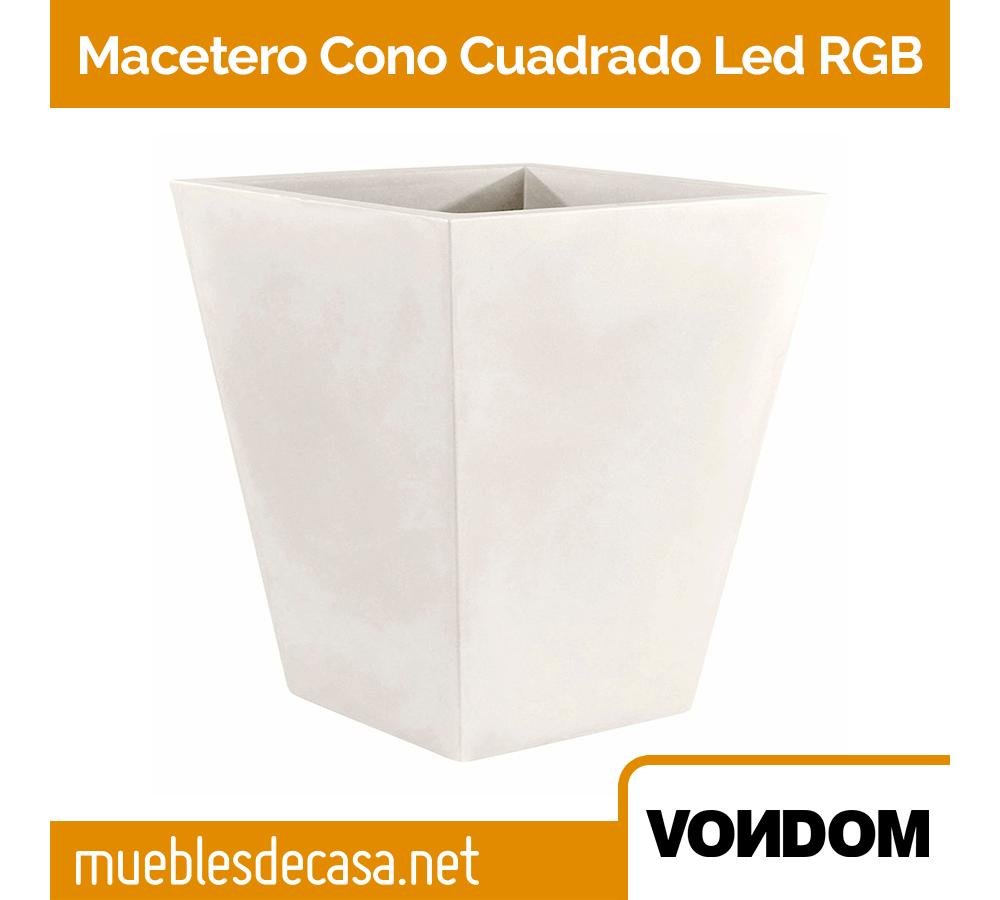 Macetero Vondom Cono Cuadrado LED RGB