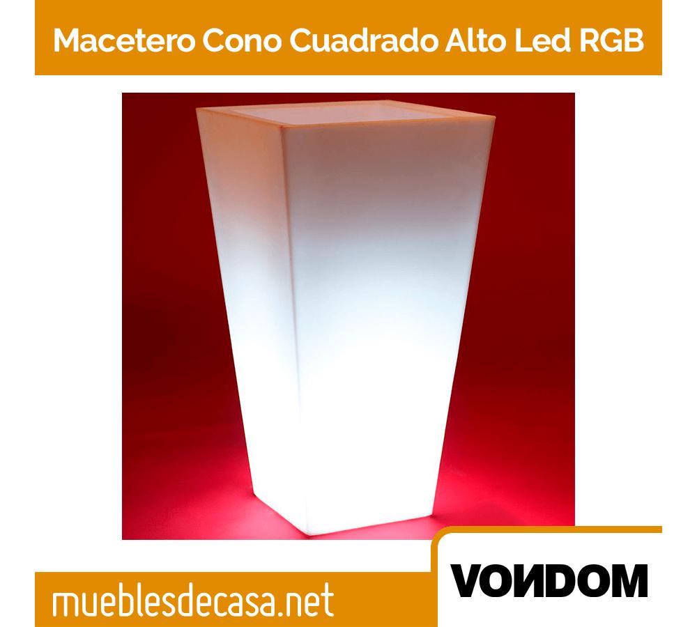 Macetero Vondom Cono Cuadrado Alto LED RGB