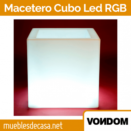 Macetero de Diseño para Jardín Vondom Cubo LED RGB