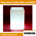 Macetero de Diseño para Jardín Vondom Cubo Alto LED RGB