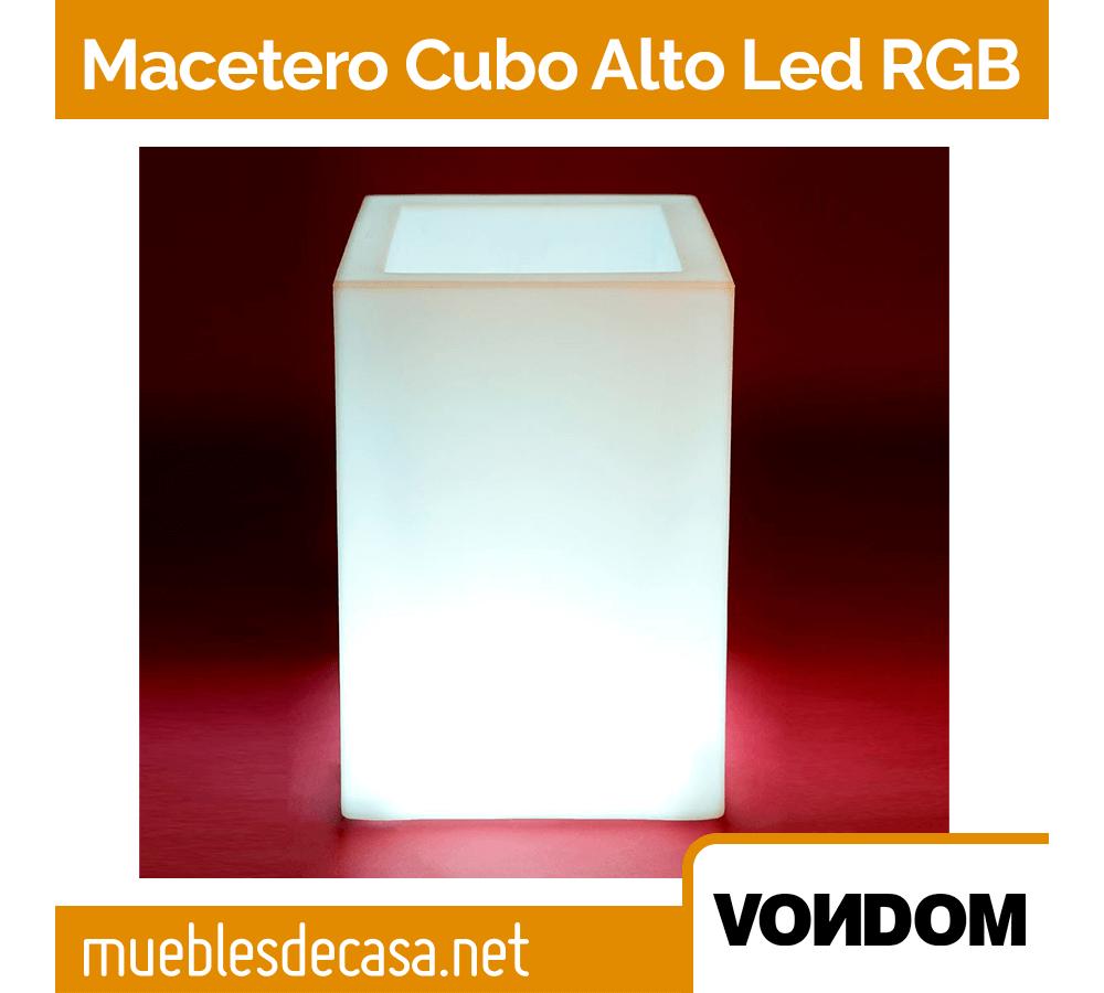 Macetero Vondom Cubo Alto LED RGB