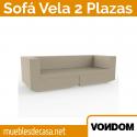 Sofá de Diseño para Jardín Vondom 2 Plazas Vela 200 cm