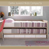 Cama Juvenil Compacta Nido Visto y 4 Cajones