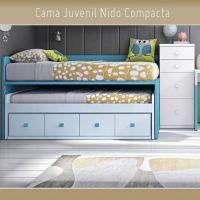 Cama Nido con Cajones y Ruedas