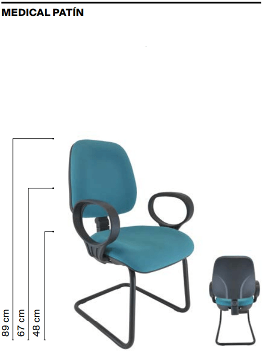 Medidas silla Medical