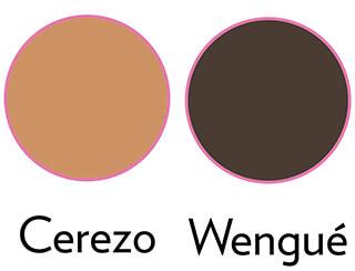 color cerezo wengué