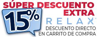 descuento extra 15% relax