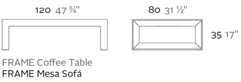 Medidas mesa frame baja