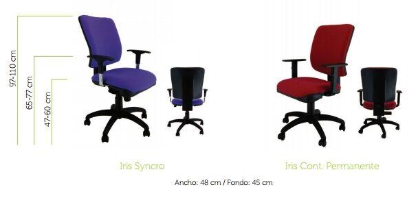 silla de oficina iris