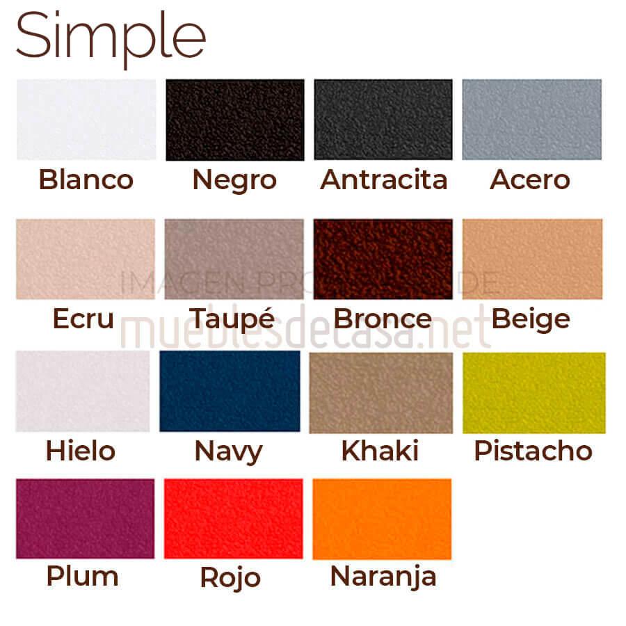 Paleta colores Simple Vondom