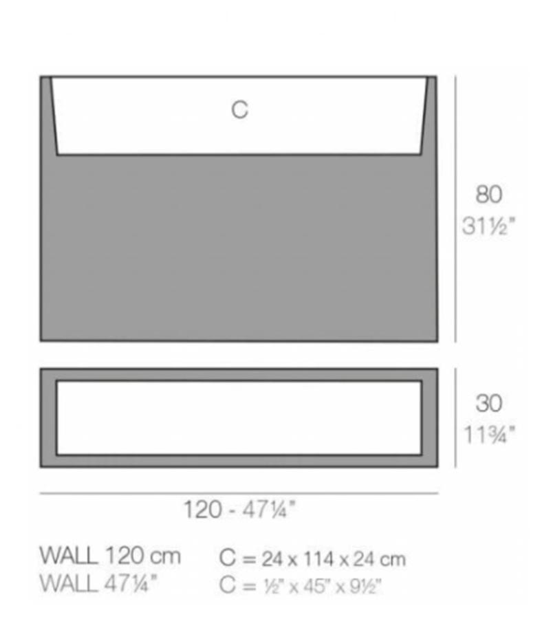 Medidas macetero Wall de Vondom