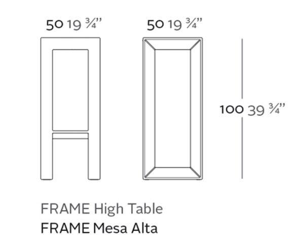 mesa alta frame