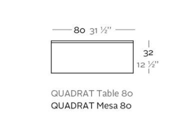 mesa quadrat