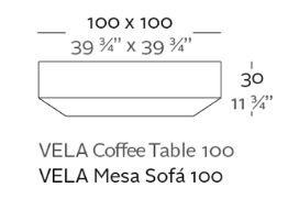 medidas mesa chill vela 100