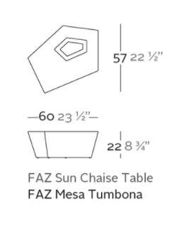 mesa tumbona