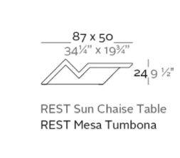 mesa tumbona medidas