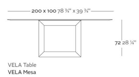 mesa vela hpl medidas