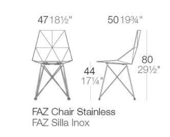 medidas silla faz inox