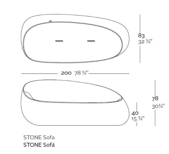 medidas sofa stones