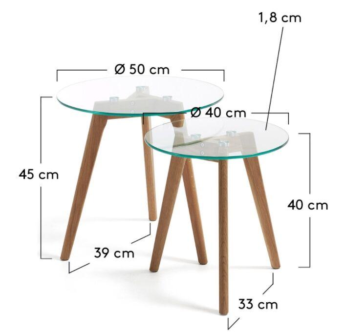 medidas set mesas auxiliares