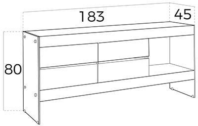 aparador de diseño moderno blanco