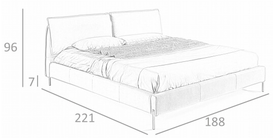medidas cama 7040 de angel cerda