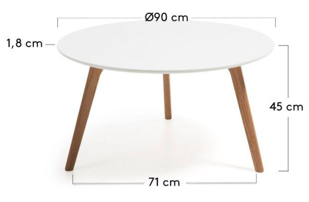 mesa de centro madera brick