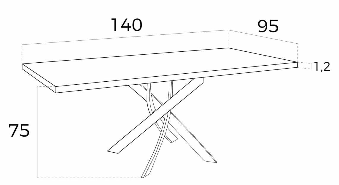 mesa rectangular f2133