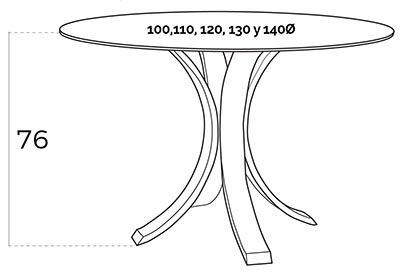 mesa redonda BZ2103