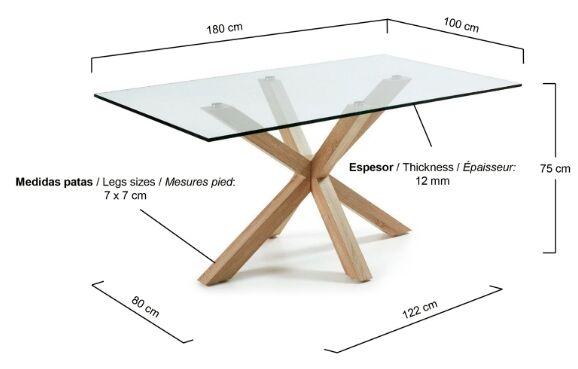 medidas mesa arya