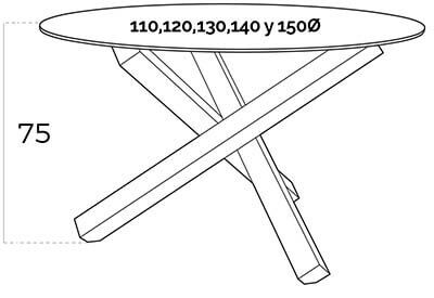 mesa redonda bz951