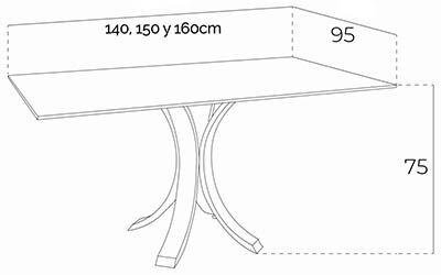 mesa rectangular bz2103