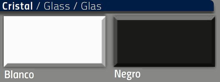 cristal blanco y negro nacher