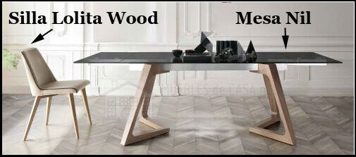 silla lolita wood y mesa mil de nacher