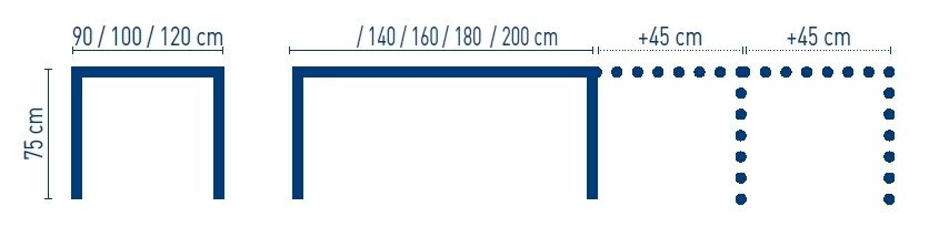 medidas mesa extensible de salon iron