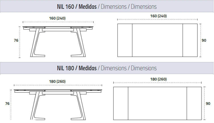 medidas mesa extensible nil