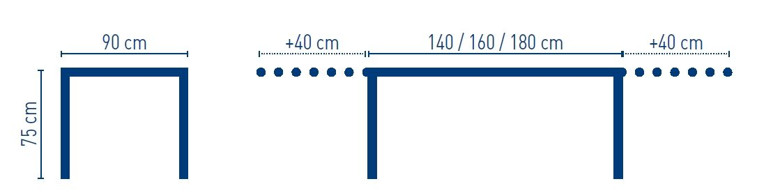 medidas mesa nacher tree