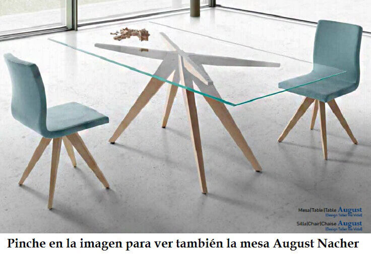 mesas y sillas de comedor august nacher