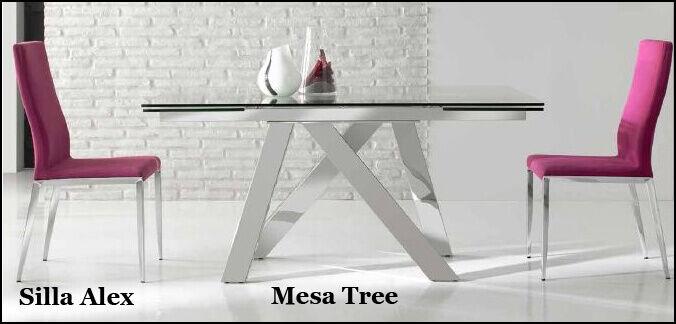 silla alex y mesa tree de nacher