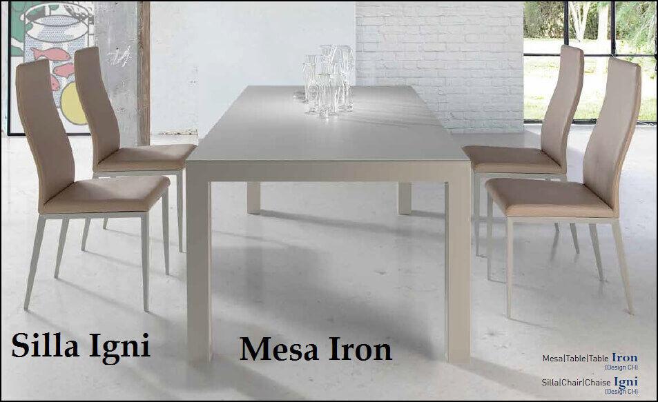 silla igni y mesa iron de nacher